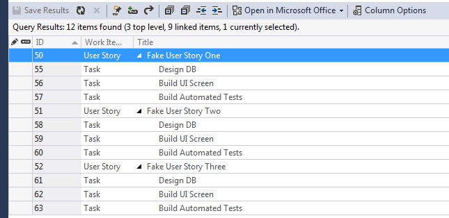 Adding Tasks to a User Story in Bulk with Excel 12